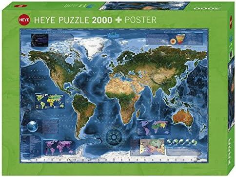 2000-Piece Heye 29797 Satellite Map Puzzle
