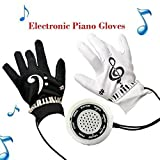 Whitelotous Piano Glove with Musical Fingertips Electric Educational Toy Instrument Kit