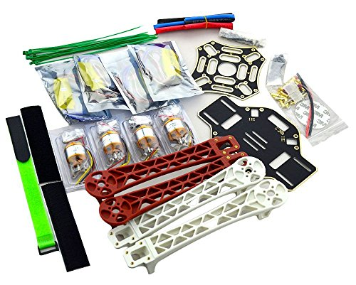 YoCoo® DIY F450 4-Axis RC QuadCopter MultiCopter Frame Airframe Kit + 4Pcs A2212 1000KV Brushless Motors + 4Pcs 30A ESC + 2Pairs 1045 Propeller Props for MK,KK, FF,MWC (Set 1) (F450 Diy Quad Kit compare prices)