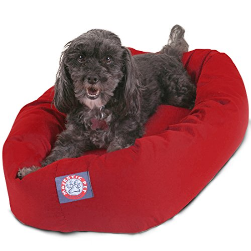 (24 inch Red Bagel Dog Bed By Majestic Pet)