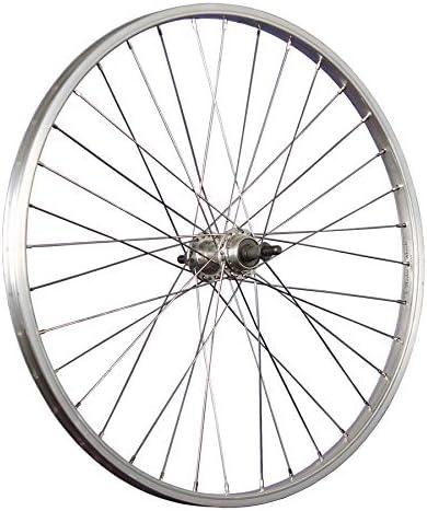 Taylor-Wheels 24 Pulgadas Rueda Trasera Bici Aluminio para piñón Rosca Plateado: Amazon.es: Deportes y aire libre