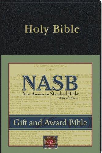 (New American Standard Gift & Award Bible; Black Imitation Leather)