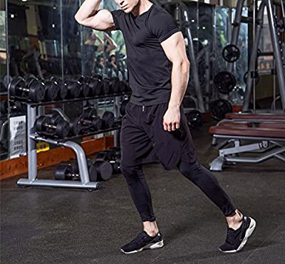 GAOAG Men Workout Gym Fitness Top Cool Dry Compression Bodybuilding Muscle Baselayer T Shirts