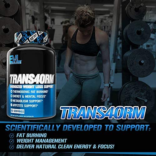 Evlution Nutrition Trans4orm - Complete Thermogenic Fat Burner for Weight Loss, Clean Energy and Focus with No Crash, Boost Metabolism, Suppress Appetite, Diet Pills (60 Servings) 3