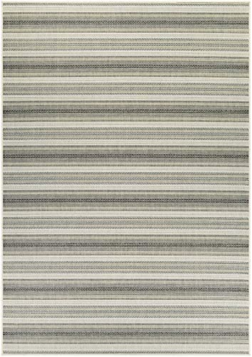 Couristan Monaco Collection Marbella Rug, 2 by 3-Feet, Ivory Sand