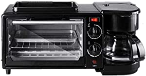 Wghz Oven 220V 3 in 1 Electric Breakfast Toaster Automatic Multifunctional Electric Bread Baking Oven,Adjustable Temperature Control,for Bread Chicken Frying Egg Toast
