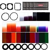 Beschoi 40in1 Graduated ND Gray Color filter set for Nikon D5300 D5200 D5100 D3300 D3200 D3100 DSLR Cameras