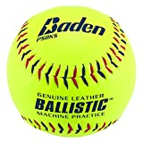 Baden Ballistic Leather Pitching Machine Softball 12' (One Dozen)