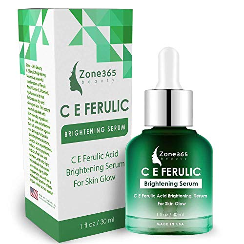 ZONE – 365 Brightening Serum; Hyperpigmentation Treatment; With Vitamin C, E, Ferulic, and Hyaluronic Acid; 1 fl oz.