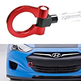 iJDMTOY Sports Red Track Racing Style Aluminum Tow Hook For 2010-up Hyundai Genesis Coupe 2-Door