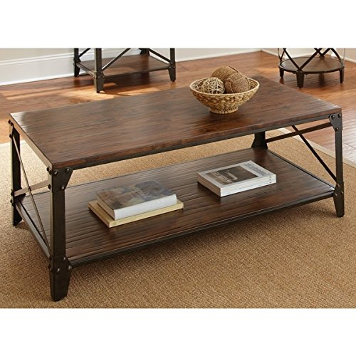 d Coffee Cocktail Accent Table in Espresso Brown Finish Includes Modhaus Living (TM) Pen (Knoll Living Room Coffee Table)