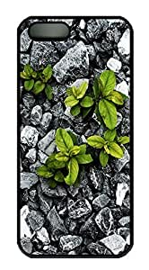 iPhone 5 5S Case Nature Rock Plants PC Custom iPhone 5 5S Case Cover Black