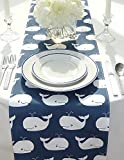 Appleberry Attic Whale Table Runner Collection (Blue) Handmade in USA