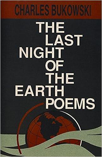 The Last Night Of The Earth Poems Charles Bukowski 9780876858639