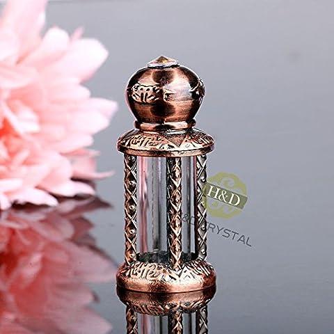 gg Copper Mini Vintage Empty Metal Glass Jeweled Perfume Bottle Stopper Lady Gift - Butterfly Perfume Stopper Bottle