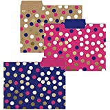 Navy Dot File Folder Set