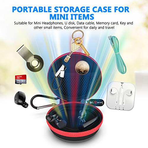 Large Product Image of HiGoing Carrying Cases Sweatproof Travel Carrying Cases Portable Protection EVA Hard Earpieces_Red
