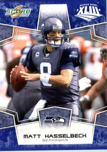 280 Matt (2008 Score SuperBowl Blue NFL Football Card - (Limited to 1200 Made) # 280 Matt Hasselbeck QB - Seattle Seahawks)