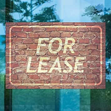 5-Pack 30x20 for Lease Ghost Aged Brick Window Cling CGSignLab
