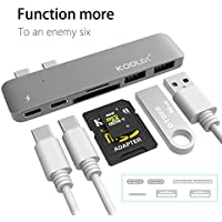 """KODLIX GN28A 6 in 1 USB-C Multiport Type-C Adapter USB C Hub with 2 USB 3.0 Ports, 2 USB Type-A Port, 2 USB-C Plugs, SD and TF Card Reader with Thunderbolt 3 for MacBook Pro 13""""/ Pro 15"""" (2016)"""