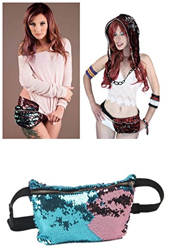 purple sequin fanny pack - 7