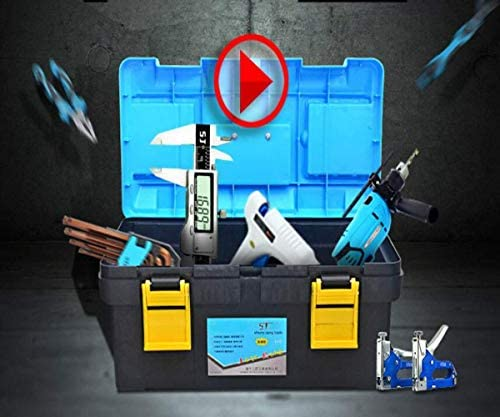 CHUNSHENN ツールボックス 工具箱 ツールボックスのホームアウトドア修理工具収納ボックス、青18インチプラスチック製多機能サイズ42 * 21 * 19センチ(色:ブルー、サイズ:42 * 21 * 19)