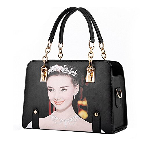 YB001 Handbag Women's Hepburn NiaNia Totes Women's NiaNia Bag Leather Shoulder SUtwq