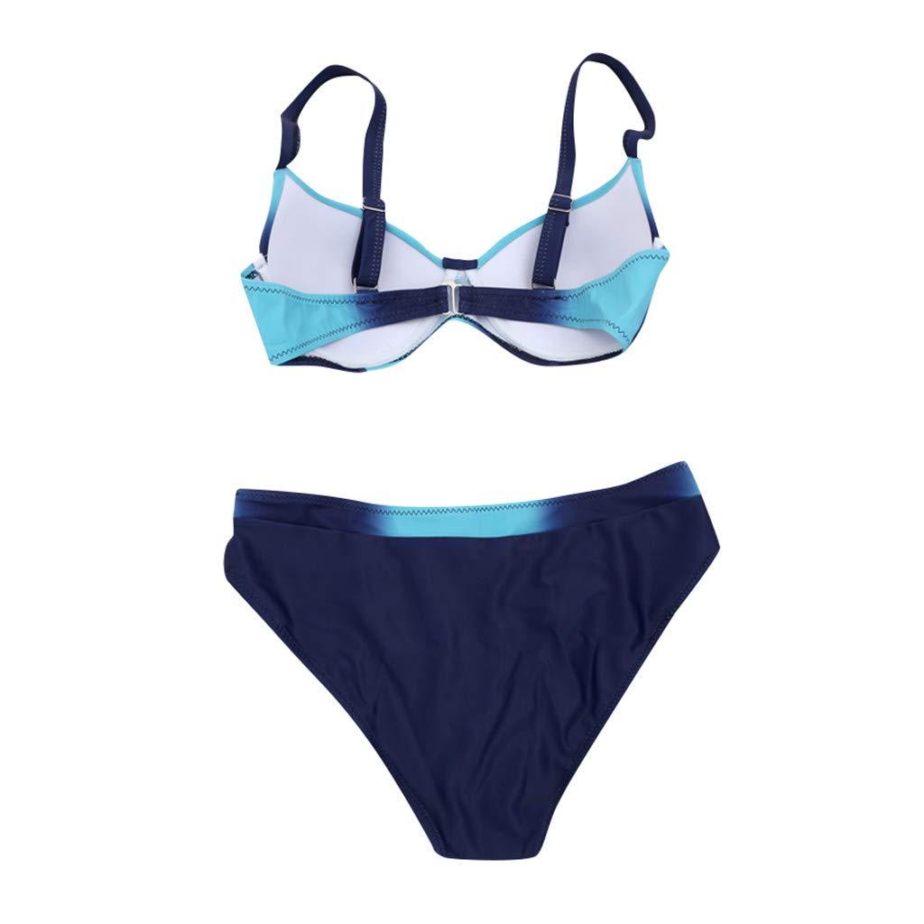 OPALLEY Bikini Damen Bikini Set Zweiteilig Bandeau Neckholder Push Up Bikinis High Waist Sport Bikini mit Shorts