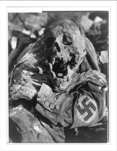 Historic Print (L): [Decomposing corpse of man with swastika arm band in Dres...]()
