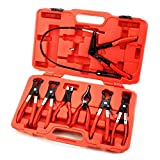 Cypressshop Mechanics Deluxe Hose Clamps Ring Pliers Tool Kit Flexible Cable Plier Swivel Jaw Hose Collar Plier With Carry Case Hand Tools Set 7