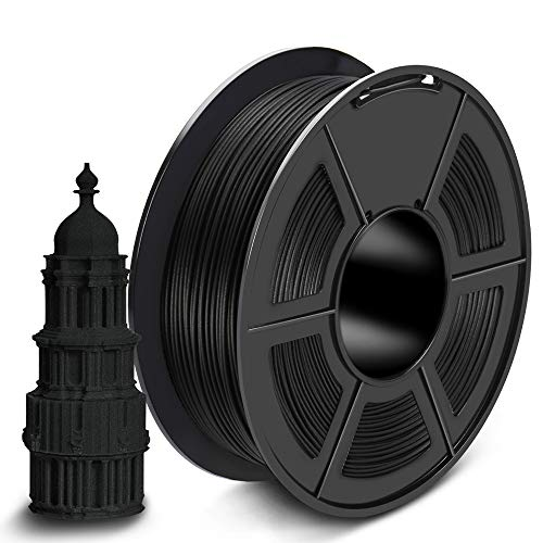 SUNLU Carbon Fiber PLA Filament 1kg 1.75mm 3D Printer Filament Dimensional Accuracy +/- 0.02 mm 1kg Spool 1.75 mm