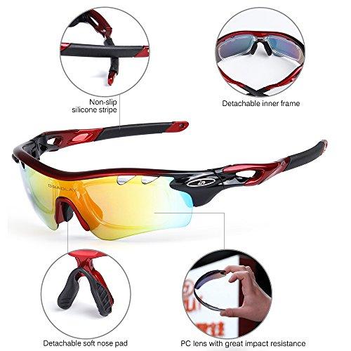 Ciclismo Lixada de Bicicleta Gafas fluorescente Polarizadas Anteojos de Sol UV400 qwFrI7wB