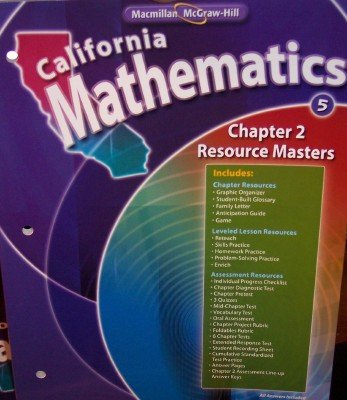 Download Chapter 2 Resource Masters Grade 5 (California Mathematics, Math Connects) ebook