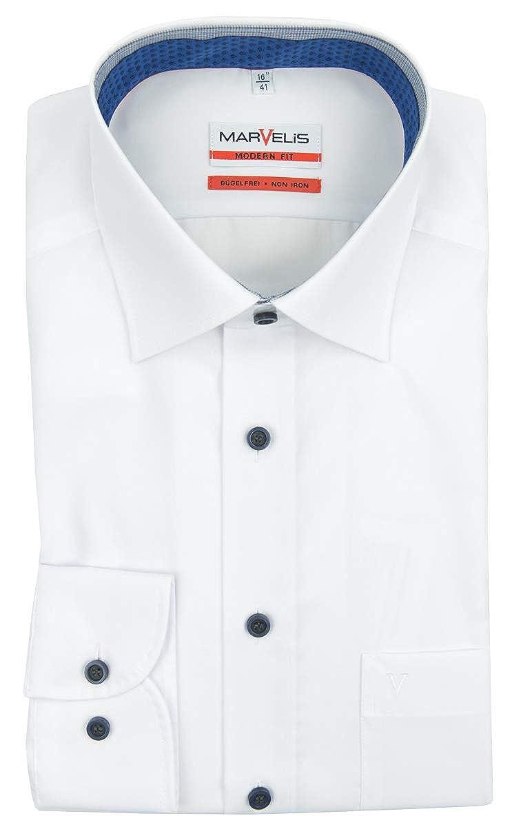 Marvelis - Camisa Formal - Liso - Clásico - para Hombre