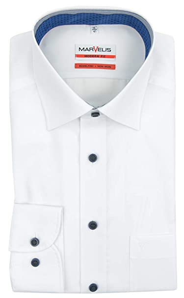 Marvelis Camisa Formal Para Hombre Cl/ásico