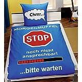 """Bettwäsche """"Morgenmuffel"""", Bezug 140/200, Kissen 70/90, 100% Baumwolle"""