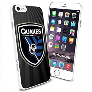 MLS San Jose Earthquakes American Soccer Apple Smartphone iPhone 6 4.7 inch Case Cover Collector TPU Soft White Hard Cases by mcsharks