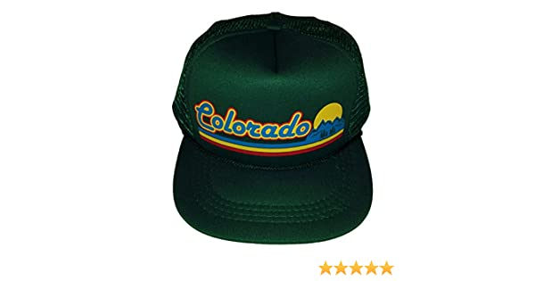 cc754662a3c Amazon.com  Toddler Kid s Dark Green Colorado Sunset Snapback Mesh Trucker  Hat Cap  Clothing