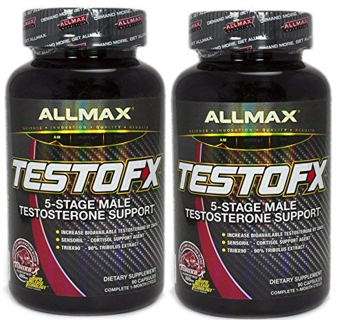 ALLMAX TESTOFX, 5-Stage Male Testosterone Amplifier, 90 Capsules (2 Bottles), 60 Day Supply