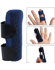 Vingerspalk, Trigger Finger Wraps Mallet Finger Brace voor gebogen gebogen vingerontkrulling, verstelbare bevestigingsriem met ingebouwd aluminium
