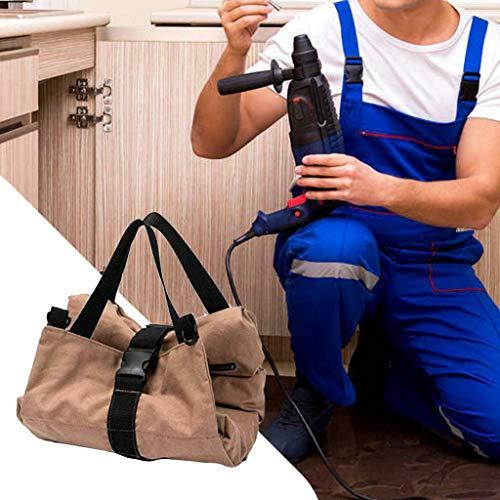 (AIUSD Hardware Tool kit Storage Tools Carrier Bag Canvas Fabric Handy Pouch Handbag)