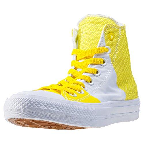 Converse Chuck Taylor all Star II, Sneaker a Collo Alto Unisex-Adulto Yellow White