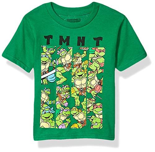 Toddlers 4T Teenage Mutant Ninja Turtles Group T-shirt, Kelly Green