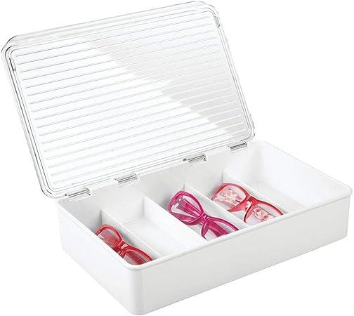 mDesign Cajas para gafas de sol – Clasificador de plástico con 5 ...