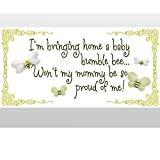 I'm Bringing Home A Baby Bumblebee Won't My Mommy Be So Proud Of Me! Removable Vinyl Wall Stickers Girls Room Baby Nursery Sayings Quote Bumble Honey Bee Bumblebees Girl Decor Decal Kids Graphics Art