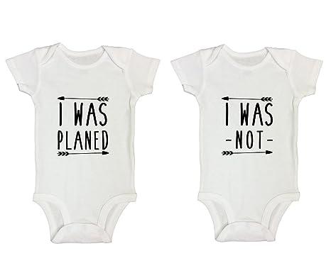 f8ddb4688cf6 Amazon.com: Cute Twin Onesie Set Of 2 Boy or Girl
