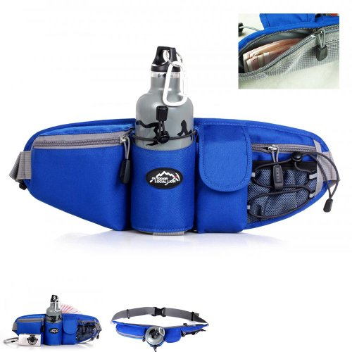 NE3C(TM) Outdoor Waist Bag Multiple Pocket Waist Pack (blue)