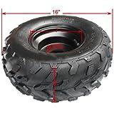 16x8-7 Right Front Rear Wheel Rim Tire Assembly for 110 cc 125cc ATV Go Kart 80mm Quad 4 Wheeler Dune Buggy Sandrail Roketa Taotao SunL Coolster
