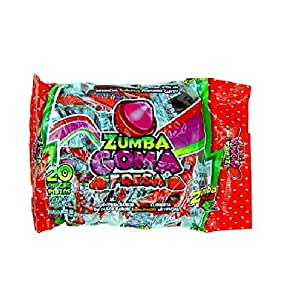 Amazon.com : Zumba Goma Fresa Gomita Sabor Fresa Cubierta