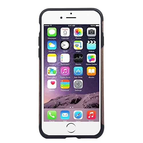 5,5 pulgadas para el iPhone caso, Para la caja protectora suave TPU de la piel de la goma del teca de madera del iPhone 7 Plus (5,5 pulgadas) ( SKU : IP7P8000D ) IP7P8000E